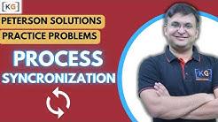 Part 5.7 Practice Problem question on Process Synchronization peterson solution critical section
