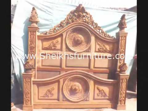 rosewood cora carved chiniote antique bedroom set collection vol 1