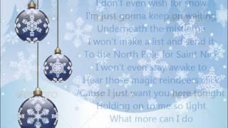 Glee - All I want for Christmas is you - Lyrics