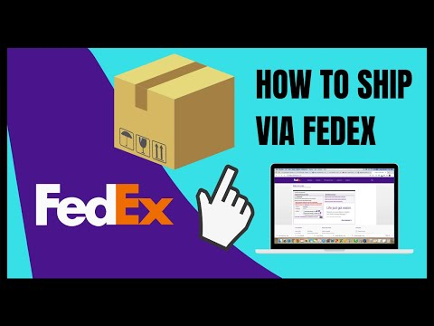 How To Ship Via FedEx Using An Account (create A Shipping Label)