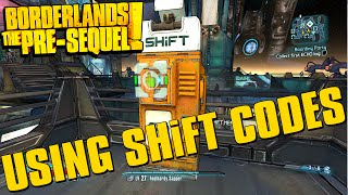 Borderlands The Pre-Sequel Using SHiFT Codes + Golden Key Codes!
