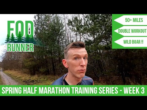 Spring Trails HALF MARATHON Running Training SERIES - Week 3 VLOG | FOD Runner