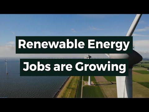 Renewable Energy Jobs are Growing