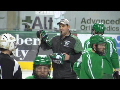 UND Men's Hockey Head Coach Brad Berry on Going to NCAA Frozen Four (2016)