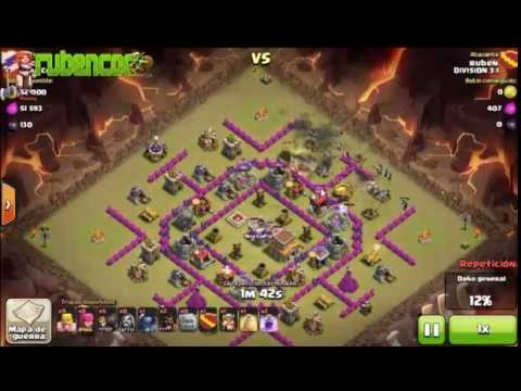 Clash of clans gowipe th8 attack strategy youtube