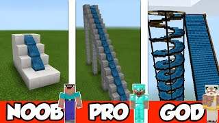NOOB vs PRO vs GOD: WATER PARK in Minecraft PE   MCPE Journalist