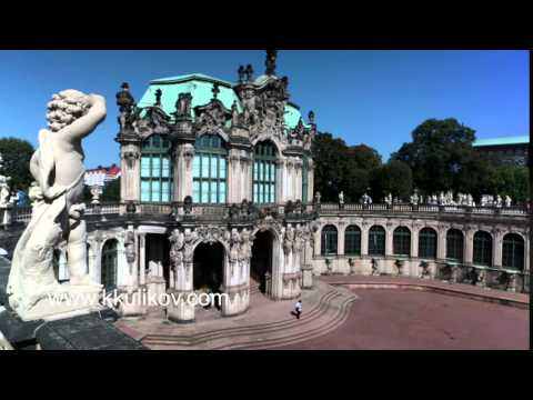 Zwinger palace, XVIII century - famous historic building  in Dresden
