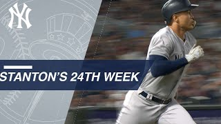 Stanton's go-ahead RBI highlights 24th week of 2018