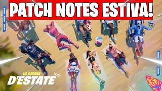 ALL the PATCH of the 14 DAYS OF ESTATE on FORTNITE!! - REFORERENT AND VERY MORE... Fortnite ITA