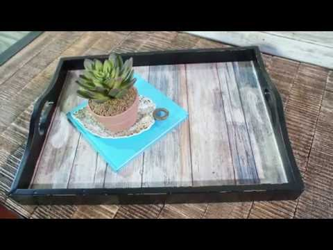 Create A Stylish Serving Tray With Peel And Stick Wallpaper