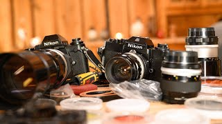 WHY I LOVE USING OLD MANUAL LENSES | Unboxing 50 year old Nikon camera equipment [Photo Friday]