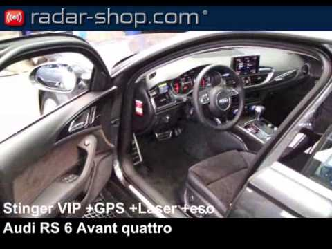 audi rs 6 avant quattro detecteur de radar stinger vip youtube. Black Bedroom Furniture Sets. Home Design Ideas