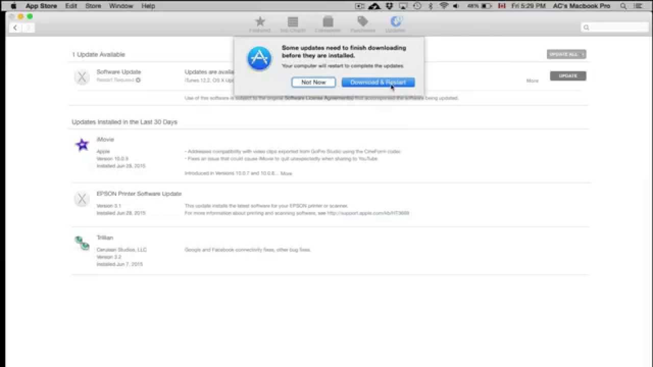 how to update itunes on mac os