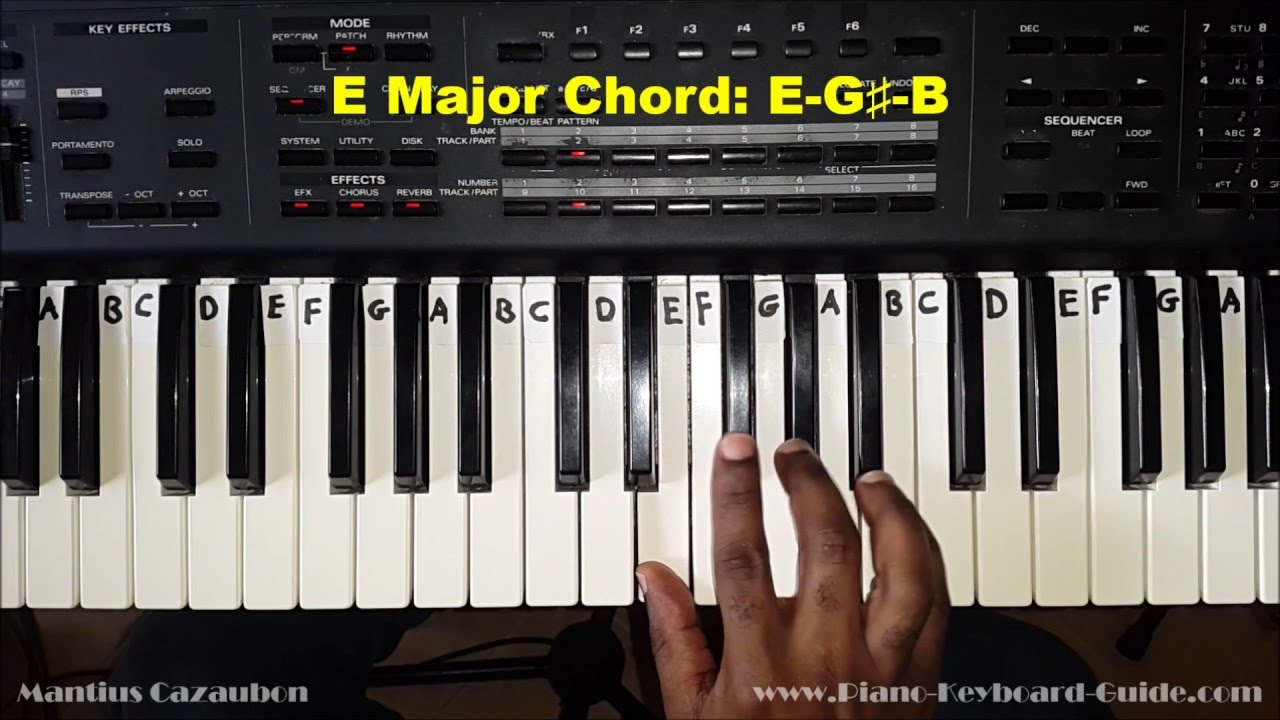 How to play the e major chord on piano and keyboard youtube hexwebz Choice Image