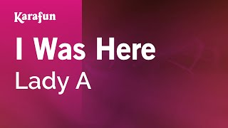 Karaoke I Was Here - Lady Antebellum *