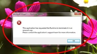 Fix This application has requested the Runtime to terminate it in an unusual way