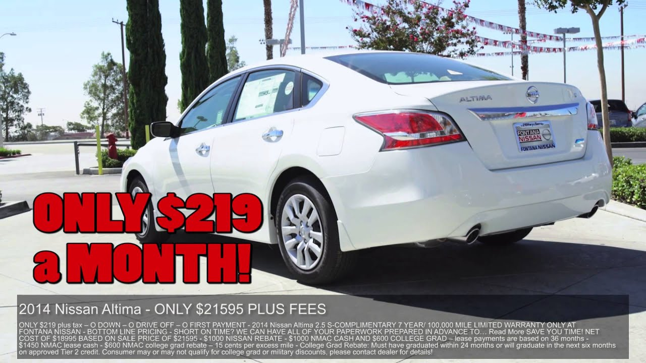 2014 Nissan Altima Lease Specials