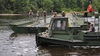 Marines Build 1,000 Foot Bridge Using Improvised Ribbon Bridges
