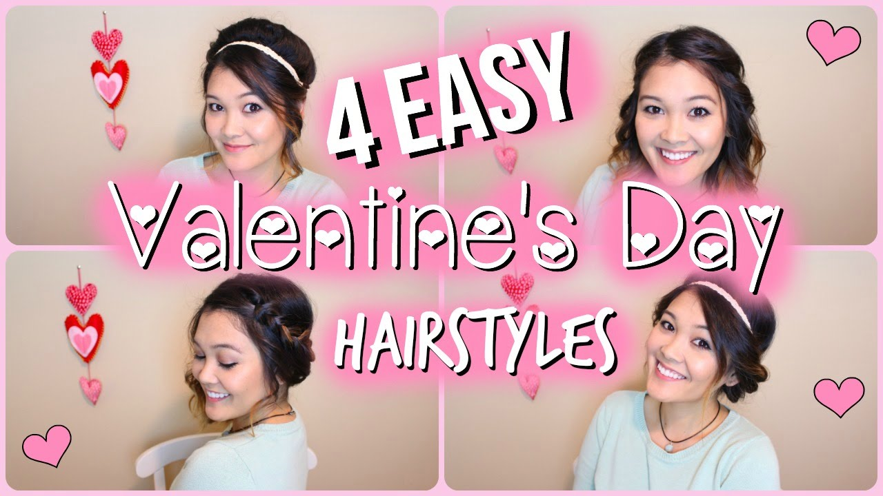 Valentines Hairstyles: 4 Easy Valentine's Day Hairstyles