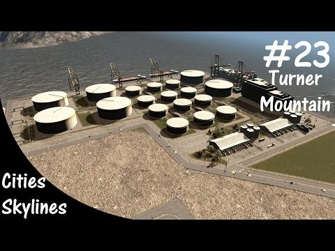 Cities Skylines Turner Mountain - Massive Harbor (Part 2)