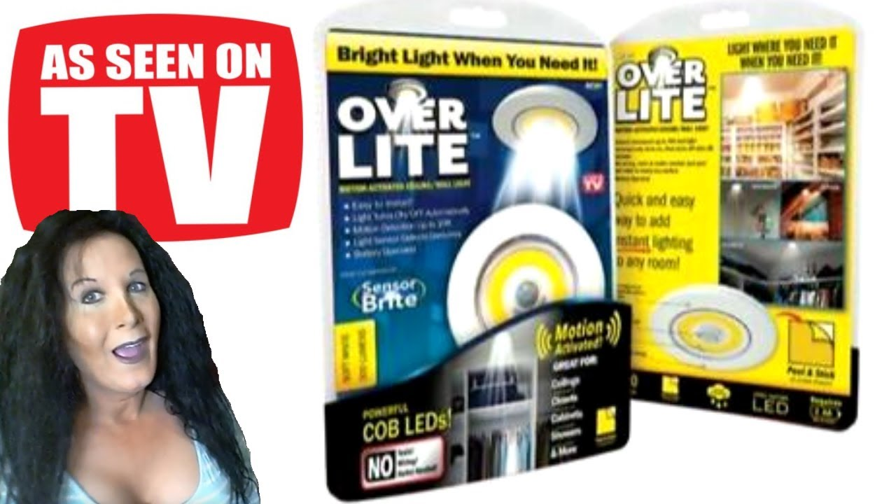 As Seen On TV Over Lite Motion-Activated Light Overhead Motion Activated LED