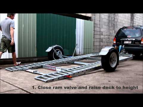 Raceking Car Trailers - 4 Degrees loading without ramps