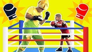 فوزي موزي وتوتي – مباراة الملاكمة - Boxing match
