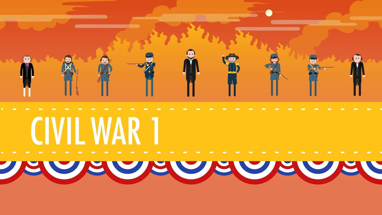 The Civil War Part I Crash Course Us History   Youtube Youtube Premium