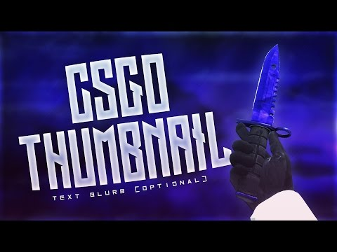 FREE CS:GO Thumbnail Template
