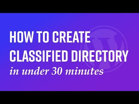 How to create classified directory