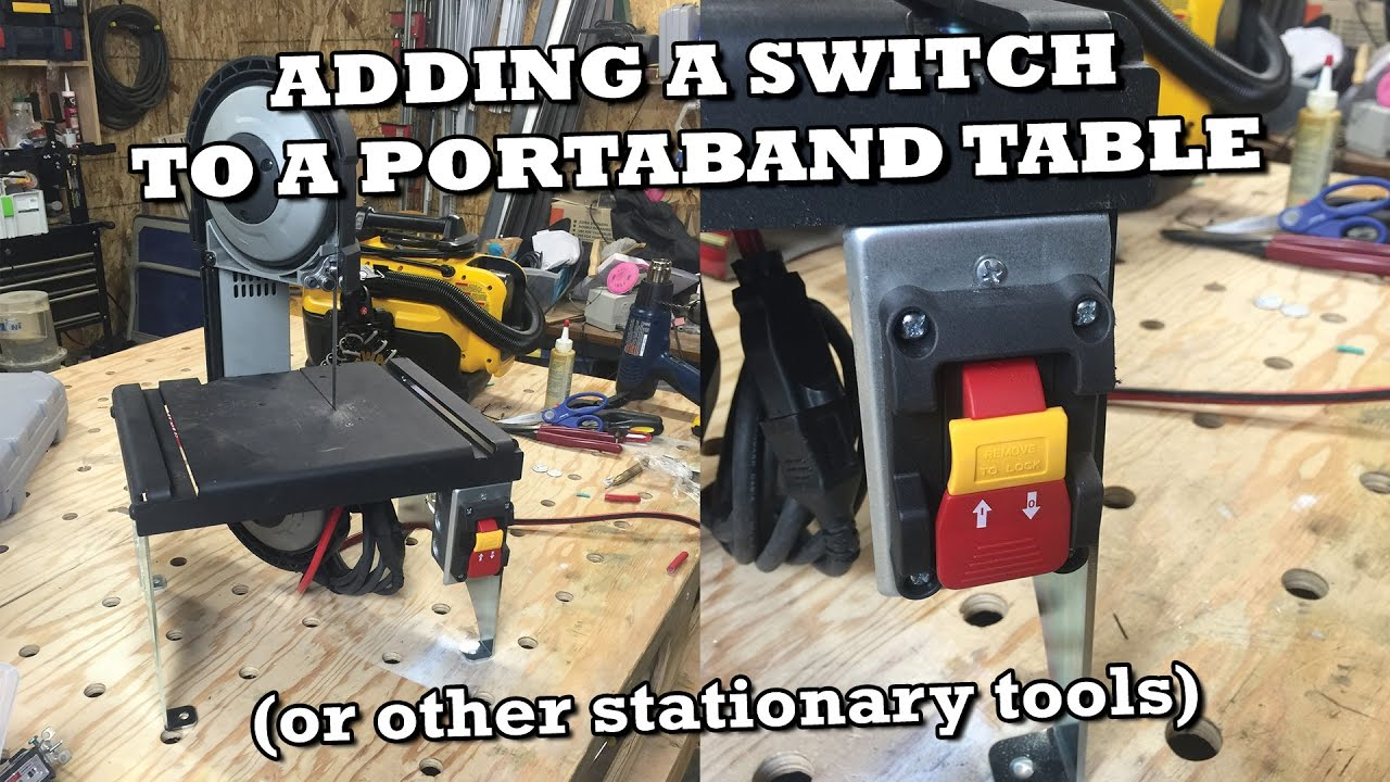 Adding a switch to the swag portaband table or other stationary adding a switch to the swag portaband table or other stationary power tools youtube keyboard keysfo Image collections