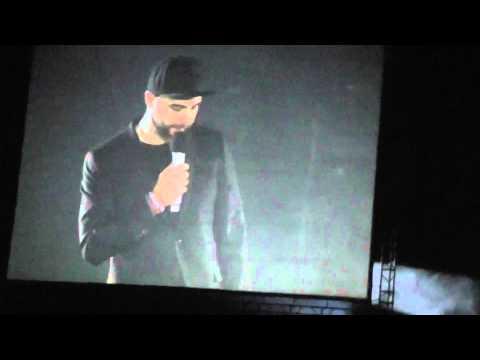 Иван Ургант открывает концерт 30 seconds to Mars (22.03.2015 Москва)