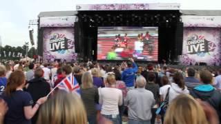 London 2012: Mo Farah Wins 5,000m - Hyde Park