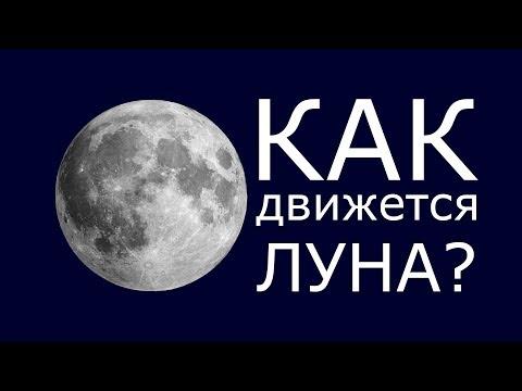 Как движется луна вокруг земли