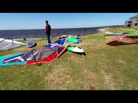 Windsurfing at Cape Hatteras, NC. April 2016