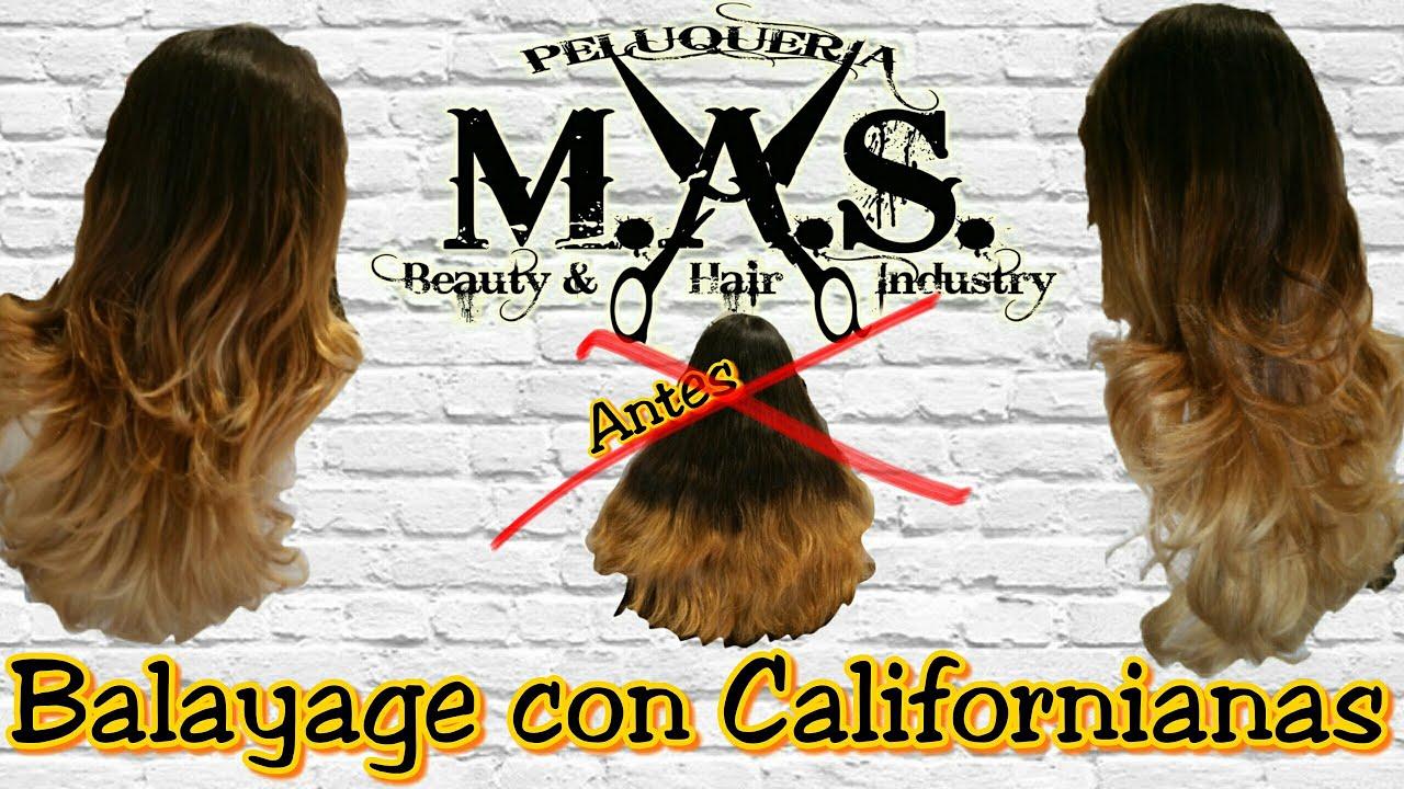 Paso a paso, como hacer Mechas Californianas. Videotutorial peluquería \u0026quot;How to Balayage ombré Hair\u0026quot; , YouTube