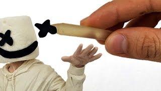 Como hacer Escultura de MARSHMELLO con Plastilina | Making MARSHMELLO in Clay tutorial. DibujAme Un