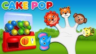 Animals Cake Pop Finger Family Rhyme | Finger Family Songs