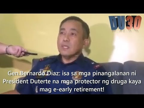 Gen. Diaz: Takot kay President Duterte kaya mag e early retirement na!!