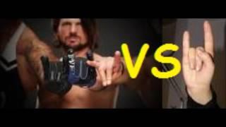 Ne AJ Styles & Kurşun Kulübü ŞEYTANİ Şeytan Boynuzu el işaretleri olun.