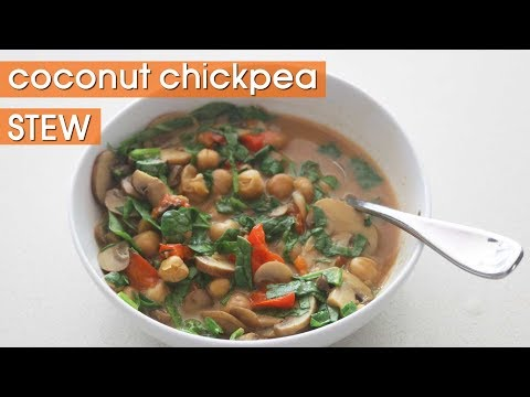 Thai Coconut Chickpea Stew || Vegan Electric Pressure Cooker/Instant Pot Recipe