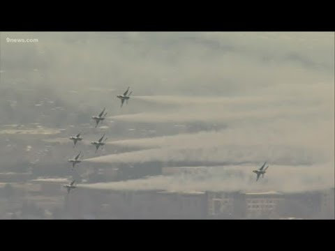 Air Force Thunderbirds fly over Colorado to honor first responders