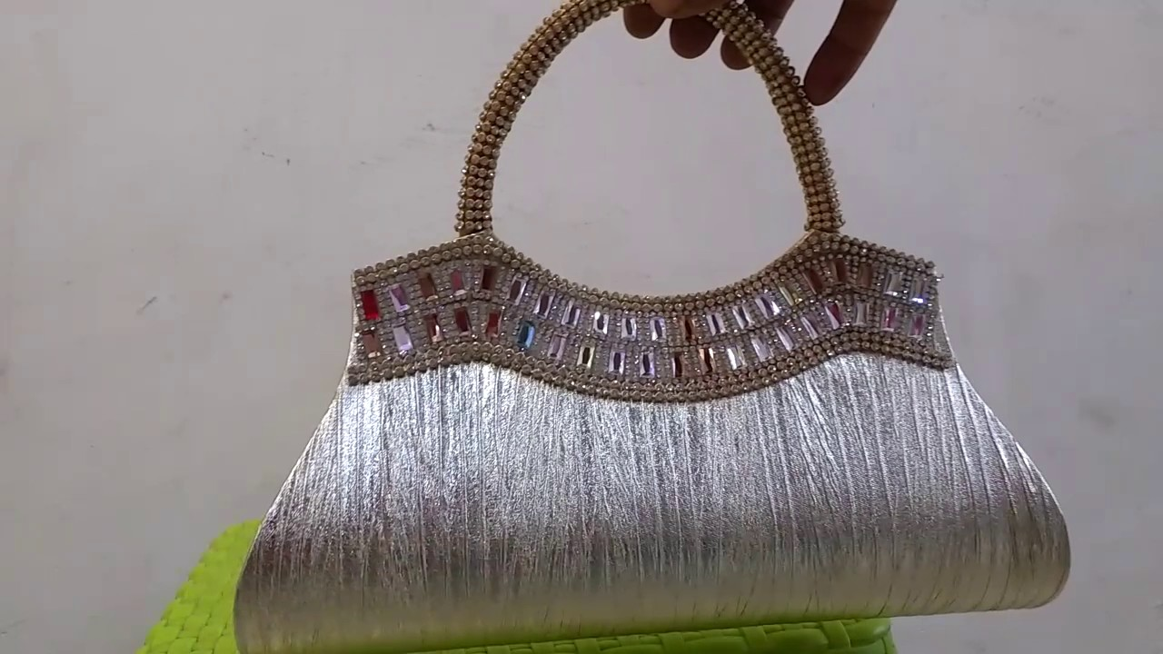 Fancy Hand Purse With Stones Design Youtube