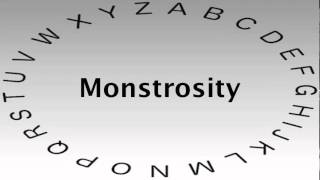 SAT Vocabulary Words and Definitions — Monstrosity