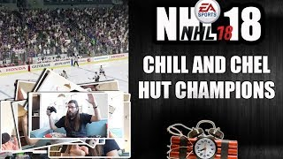 NHL 18 CHEL AND CHILL HUT CHAMPIONS LIVE GAME WITH COMMENTARY