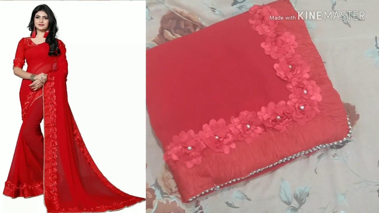 02ebd0b222 Unboxing new design red saree from Flipkart|sarees online shopping ...