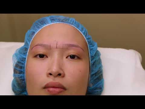 measuring and shaping eyebrows using phi compass with string method