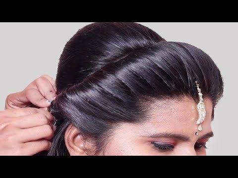 Easy & cute wedding hairstyle for girls | Bridal Hairstyle | Hair Style Girl || Hairstyles 2019 thumbnail