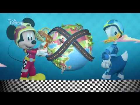 Mickey és az autóversenyzők: Interaktív videó: A világ körül!