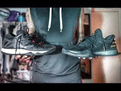 meet 8b722 1ca4c Adidas crazy light boost 2016 vs harden vol 1